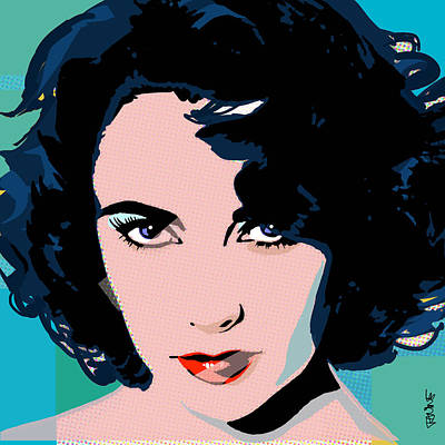 Liz Pop Poster by Janine Hoffman