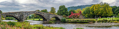 Llanrwst Bridge And Tea Room Poster by Adrian Evans