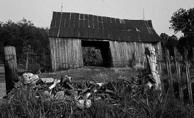 Poster featuring the photograph Lloyd-shanks-barn-4 by Curtis J Neeley Jr