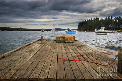 Lobster Boats Of Winter Harbor Poster