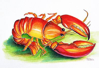 Poster featuring the painting Lobster by Patricia Piffath