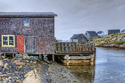 Lobster Shack - Peggy's Cove Poster by Nikolyn McDonald