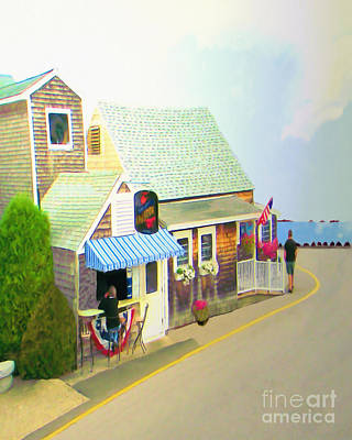 Poster featuring the digital art Lobster Shack by Richard Stevens