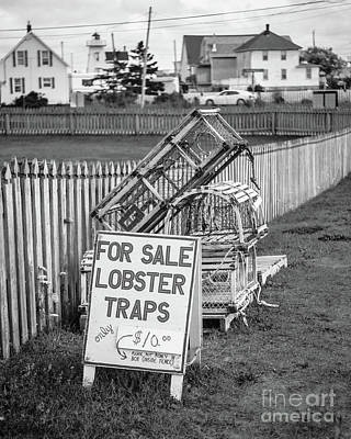 Lobster Traps For Sale Poster by Edward Fielding