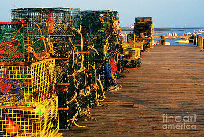 Lobster Traps On Pier Poster