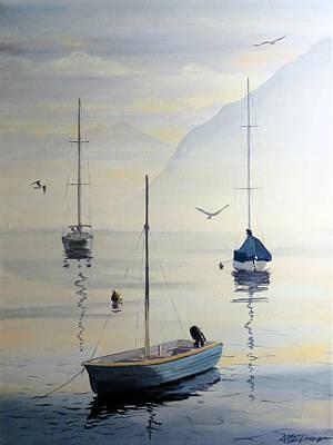Locarno Boats In February Poster