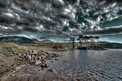 Poster featuring the photograph Loch In The Scottish Highland by Gabor Pozsgai