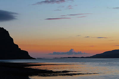 Loch Na Keal Sunset Poster