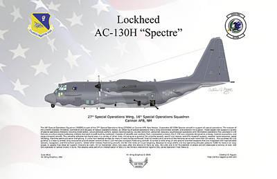 Lockheed Ac-130h Spectre Poster