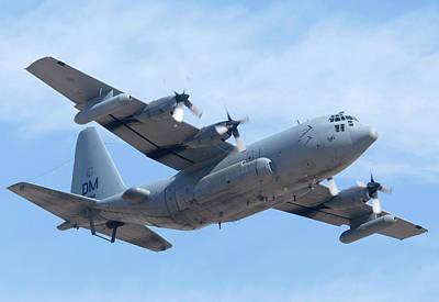 Lockheed Ec-130h Compass Call Hercules 73-1584 Davis-monthan Afb Arizona March 8 2011 Poster by Brian Lockett