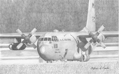 Lockheed Martin Ac-130 Military Aircraft Art Print Poster by Stephen Rooks