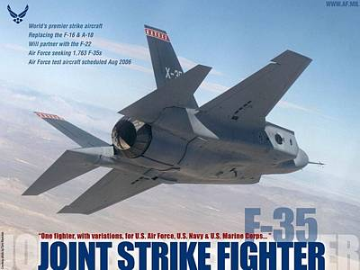 Lockheed Martin F 35 Lightening II Joint Strike Fighter Poster by L Brown