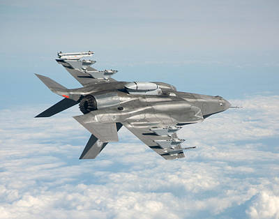 Lockheed Martin F-35 Lightening II Joint Strike Fighter Underbelly Poster by L Brown