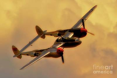 Lockheed P-38 Lightning 2011 Chino Air Show Poster by Gus McCrea