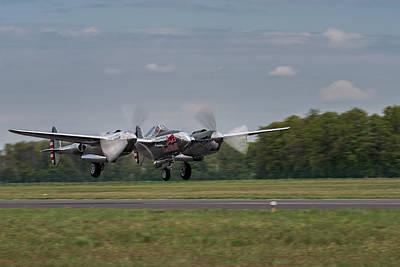 Lockheed P-38 Lightning Poster by Robert Krajnc