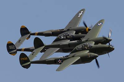 Lockheed P-38 Lightnings Glacier Girl And Skidoo Poster