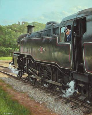 Locomotive At Swanage Railway Poster