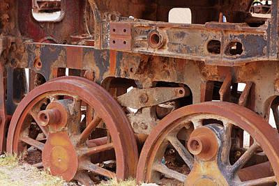 Locomotive In The Desert Poster by Aidan Moran