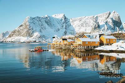 Lofoten Islands Winter Dreams Poster
