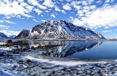 Lofoten Winter Scene Poster