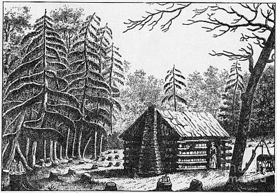 Log Cabin, 1826 Poster by Granger