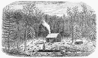 Log Cabin, C1800 Poster