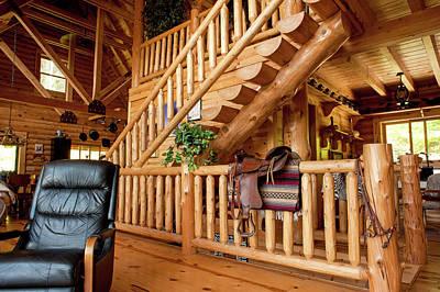 Log Cabin House In Cullowhee, North Carolina Poster