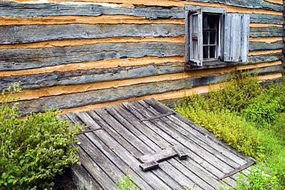 Log Cabin Storm Cellar Door Poster