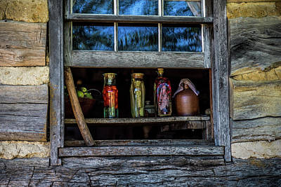 Log Cabin Window Poster
