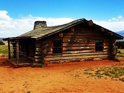 Poster featuring the photograph Log Cabin Yr 1800 by Joseph Frank Baraba