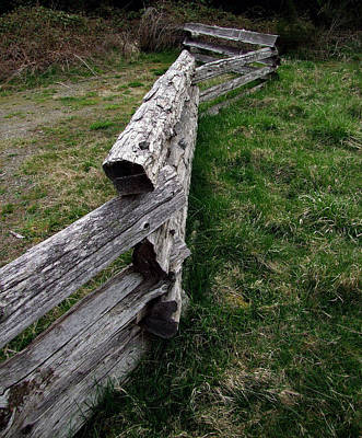 Log Fence Poster by Ron Roberts