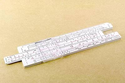 Logarithmic Slide Rule Poster by Friedrich Saurer