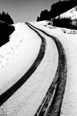Logging Road In Winter Poster by Mark Duffy