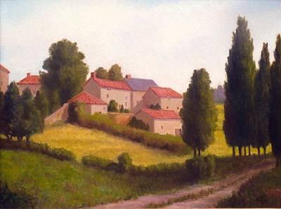 Loire Valley Apres Midi Poster