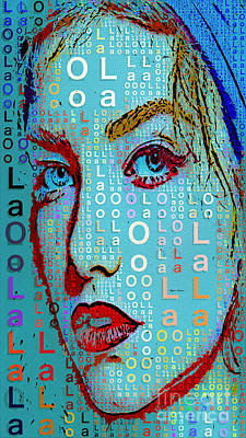 Poster featuring the digital art Lola Knows by Rafael Salazar