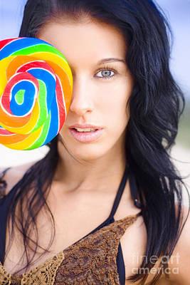 Lollipop Flirt Poster