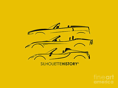 Lombard Roadster Silhouettehistory Poster by Gabor Vida