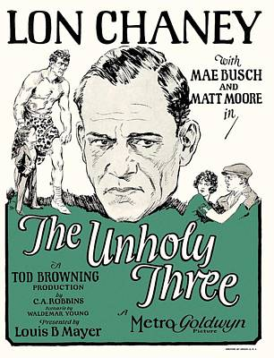 Lon Chaney In The Unholy Three 1925 Poster