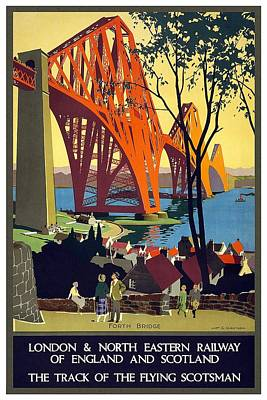 London And North Eastern Railway - Retro Travel Poster - Vintage Poster Poster