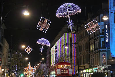 London At Christmas Poster