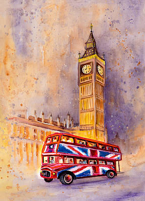 London Authentic Poster by Miki De Goodaboom