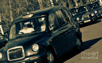 London Black Taxi Cabs Poster by Andy Smy