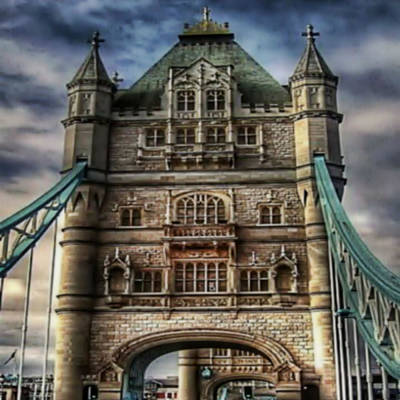 Poster featuring the photograph London Bridge by Digital Art Cafe