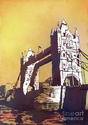 Poster featuring the painting London Bridge- Uk by Ryan Fox
