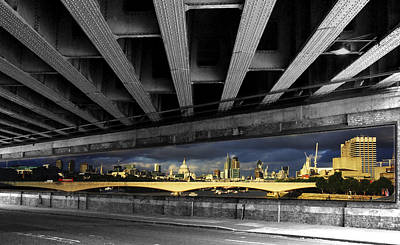 London Bridge Under The Bridge Poster by David French