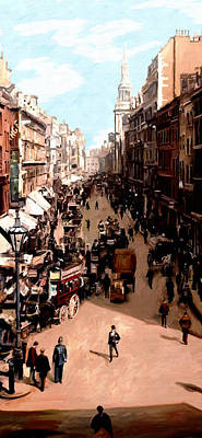 Poster featuring the painting London Cheapside by James Shepherd