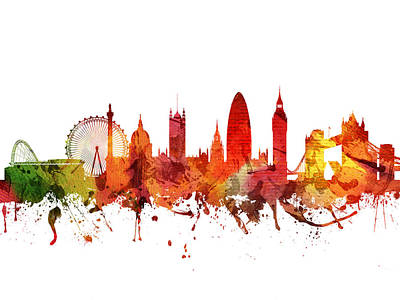 London Cityscape 04 Poster by Aged Pixel