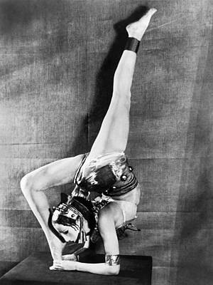London Dancer Wearing A Mask Poster by Underwood Archives