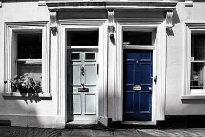 London Doors Blue Poster by Georgia Fowler