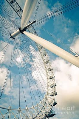 London Eye Ferris Wheel Poster by Andy Smy